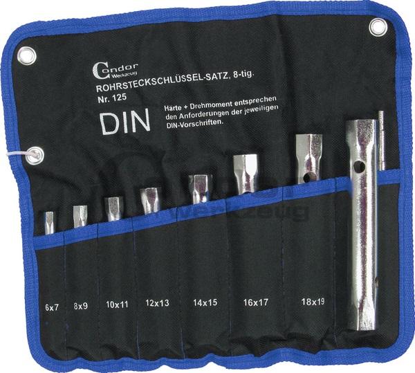 Vamzdinių raktų rinkinys | 6x7 - 20x22 mm | 8 vnt nuoma
