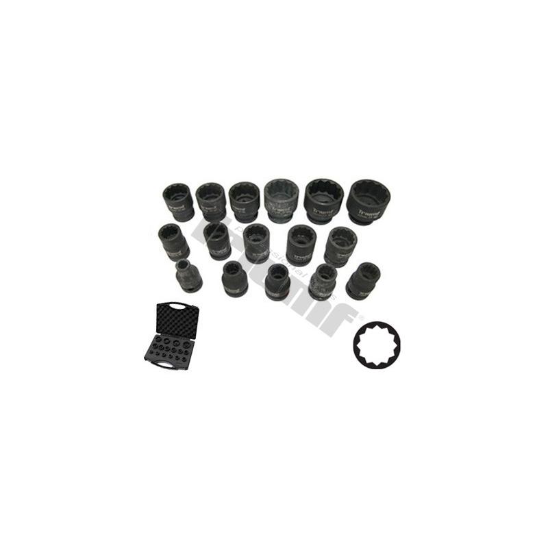 Smūginių 1/2 galvų komplektas 12-kampės (8-32mm) nuoma